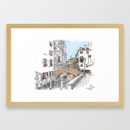 Fondamenta del Piovan, Venice Framed Art Print