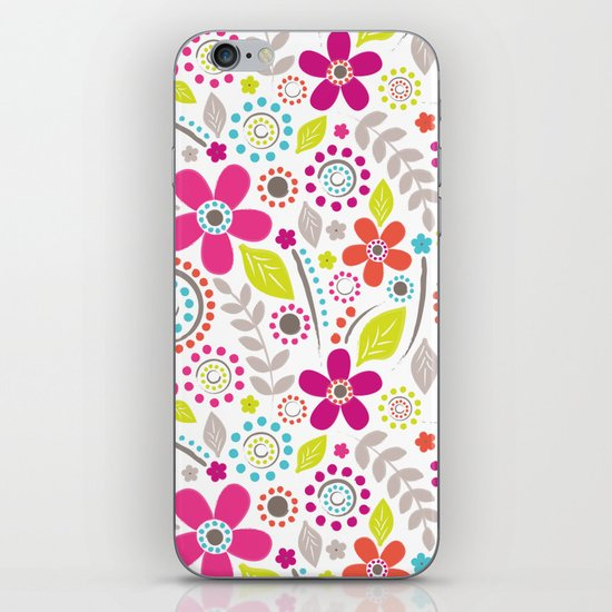 Inky Floral iPhone & iPod Skin