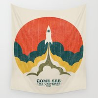 propaganda Wall Tapestries featuring Come See The Universe by Picomodi