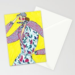 Fashionista in Alice + Olivia Spring 2019 Stationery Cards