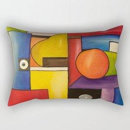 Geometric lines surface color Still Life Rectangular Pillow