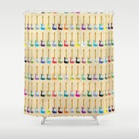 guitar Shower Curtains featuring Guitar by WyattDesign