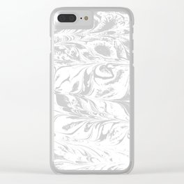 Fuyu - spilled ink abstract watercolor marble japanese paper marbling marbled pattern Clear iPhone Case