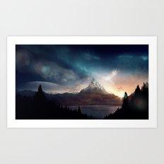 fantasy mountain Art Print