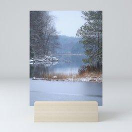 Blue Moment By The Lake Mini Art Print