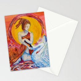 Leda and Zeus Stationery Cards
