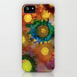 Alcohol Flowers iPhone Case