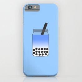 Blue Bubble Tea in Mason Jar iPhone Case