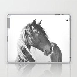 Stallion in black and white Laptop & iPad Skin