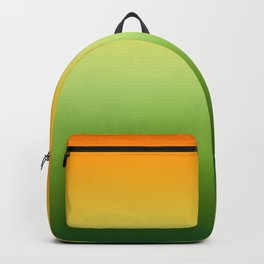 Orange And Green Ombre Backpack