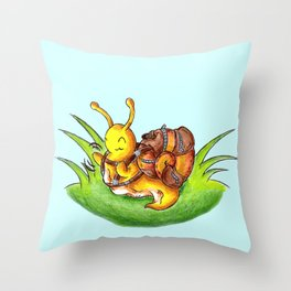 Little Robust Traveler Throw Pillow