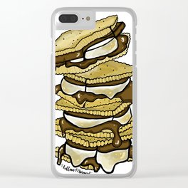 Stack of S'mores Clear iPhone Case