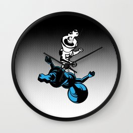 Checkmate / Chess king knocking out opponent Wall Clock