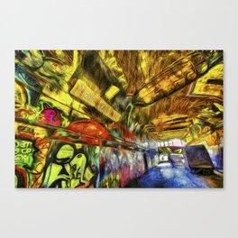 London Graffiti Van Gogh Canvas Print