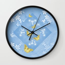 Finding natures treasure Wall Clock