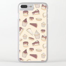 Chocolate Pastry Pattern Clear iPhone Case