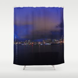 Seattle nightscape Shower Curtain