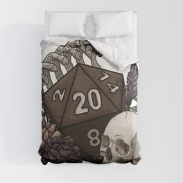 Skeleton D20 Tabletop RPG Gaming Dice Comforters