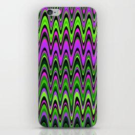 Making Waves Neon Lights iPhone Skin