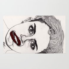 Miley with Red Lips Rug