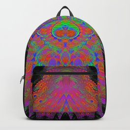 Visionary Flame (psychedelic, trippy, hallucination, meditation) Backpack