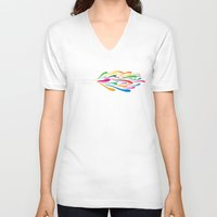 trumpet V-neck T-shirts featuring A Trumpet by Halamo Designs