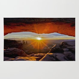 Mesa Arch Sunrise , Canyonlands Utah Rug