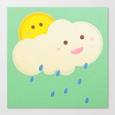 Raining day Canvas Print