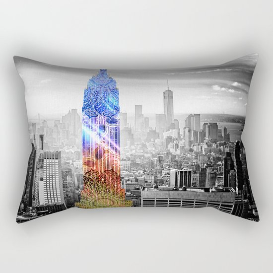 Funky Landmark - NY Rectangular Pillow