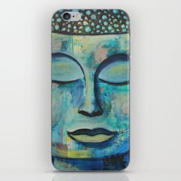 Blue Zen Buddha iPhone Skin