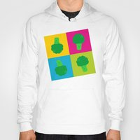 popart Hoodies featuring Popart Broccoli by XOOXOO