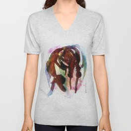 Horse (Deep bow) Unisex V-Neck