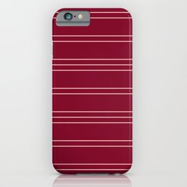 Simple Lines Pattern wr iPhone Case