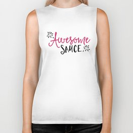 Awesome Sauce Funny Quote Biker Tank
