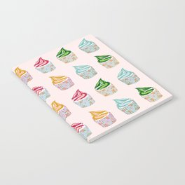 Cute as a multicoloured cupcakes! Notebook