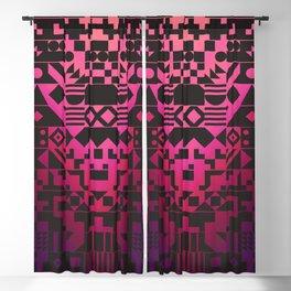 Digital Inkblot Blackout Curtain