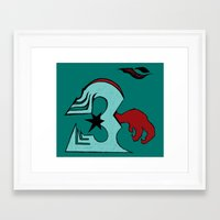infamous Framed Art Prints featuring inFamous ohm by iRa.