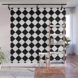 Rhombus (Black & White Pattern) Wall Mural