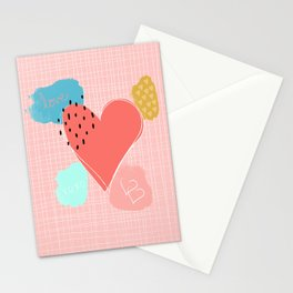 Abstract Love Stationery Cards