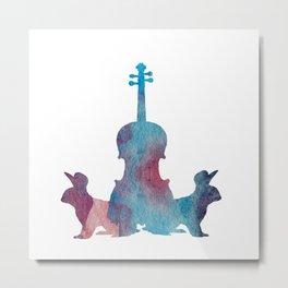 Viola Bunny Painting Metal Print