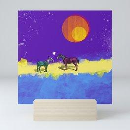 Heart and horses Mini Art Print