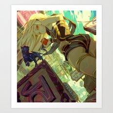 Gravity Rush Art Print