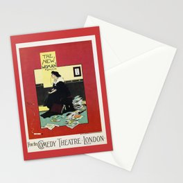 The New Woman, vintage Comedy Theatre london advert Stationery Cards