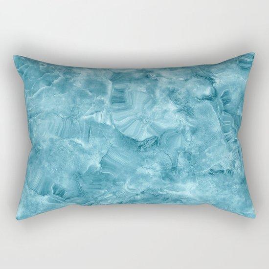 Blue onyx marble Rectangular Pillow