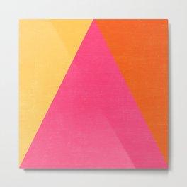 mod triangles - summer  Metal Print
