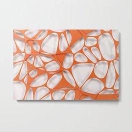 Orange on white, organic abstraction Metal Print
