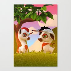 The Brave and the Myth Canvas Print