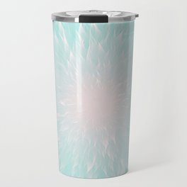 Mandala Flower Turquoise Travel Mug