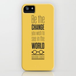 Lab No. 4 - Mahatma Gandhi Motivational Quotes Poster iPhone Case