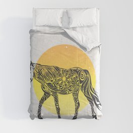 Horse in the Sun by #Bizzartino Comforters